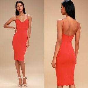 Lulu's Don't Tell 'Em Red Bodycon Midi Dress | XL
